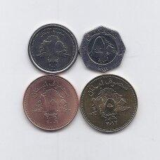LIBANAS 1996 - 2012 m. 4 monetų rinkinys