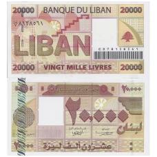 LIBANAS 20 000 LIVRES 2004 P # 87 UNC
