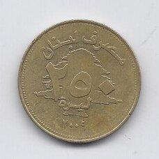 LIBANAS 250 LIVRES 2009 KM # 36 VF