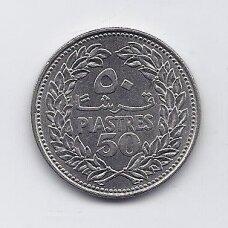 LIBANAS 50 PIASTRES 1968 KM # 28.1 VF/XF