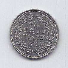 LIBANAS 50 PIASTRES 1969 KM # 28.1 VF/XF