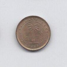 LIBERIJA 1/2 CENT 1937 KM # 10 AU