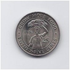 LIBERIJA 25 CENTS 1976 KM # 30 UNC FAO