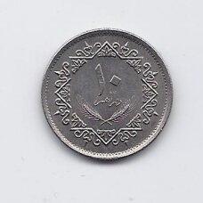 LIBIJA 10 DIRHAMS 1975 KM # 14 VF