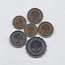 LIBIJA 1975 - 1979 m. 6 monetų rinkinys