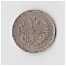 LIBIJA 20 MILLIEMES 1965 KM # 9 VF