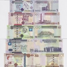 LIBIJA 2009 - 2011 m. 5 banknotų rinkinys