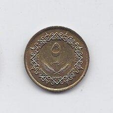 LIBIJA 5 DIRHAMS 1975 KM # 13 AU