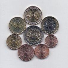 LIETUVA 2015 m. pilnas euro monetų rinkinys