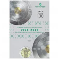 """LIETUVOS BANKAS """" Lietuviškos kolekcinės ir proginės monetos 1993 - 2018 """""""