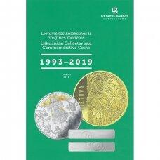 """LIETUVOS BANKAS """" Lietuviškos kolekcinės ir proginės monetos 1993 - 2019 """""""