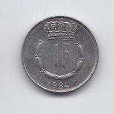 LIUKSEMBURGAS 1 FRANC 1984 KM # 55 XF