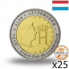 LIUKSEMBURGAS 2 EURAI 2004 MONOGRAMA RITINĖLIS ( 25 vnt.)