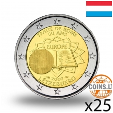 LIUKSEMBURGAS 2 EURAI 2007 50M. ROMOS SUTARČIAI RITINĖLIS (25 vnt.)