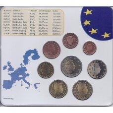 LIUKSEMBURGAS 2002 m. euro monetų rinkinys