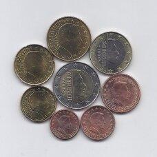 LIUKSEMBURGAS 2007 m. euro monetų komplektas (dalis monetų su defektais)