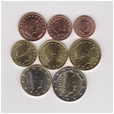 LIUKSEMBURGAS 2017 m. pilnas euro komplektas