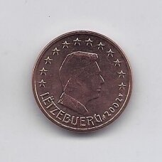 LIUKSEMBURGAS 5 EURO CENTS 2002 KM # 77 UNC