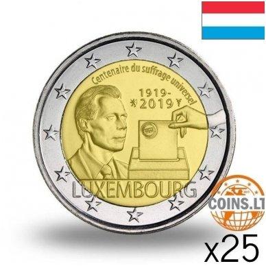 LIUKSEMBURGAS 2 EURAI 2019 RINKIMŲ TEISĖ RITINĖLIS (25vnt.)