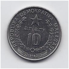 MADAGASKARAS 10 ARIARY 1978 KM # 13 UNC
