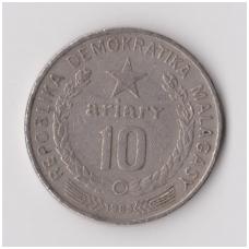 MADAGASKARAS 10 ARIARY 1983 KM # 13b VF