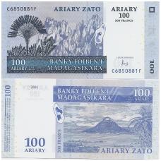 MADAGASKARAS 100 ARIARY 2004 P # 86 UNC