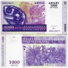 MADAGASKARAS 1000 ARIARY 2004 P # 89b AU