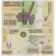 MADAGASKARAS 10000 ARIARY 2017 P # new UNC