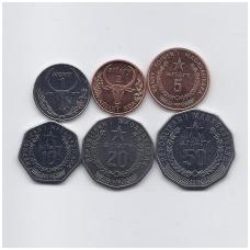 MADAGASKARAS 1996 - 2016 m. 6 monetų rinkinys