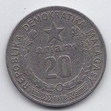 MADAGASKARAS 20 ARIARY 1978 KM # 14 F