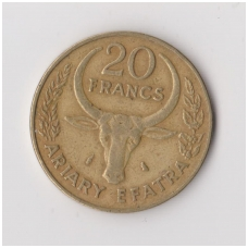 MADAGASKARAS 20 FRANCS 1988 KM # 12 VF