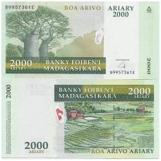 MADAGASKARAS 2000 ARIARY 2009 P # 90b AU