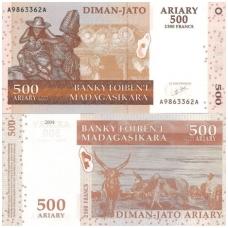 MADAGASKARAS 500 ARIARY 2004 P # 88 UNC