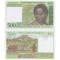 MADAGASKARAS 500 FRANCS 1994 ND P # 75 UNC