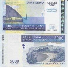MADAGASKARAS 5000 ARIARY 2007 P # 94a AU