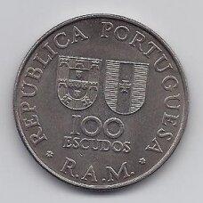 MADEIRA 100 ESCUDOS 1981 KM # 5 AU