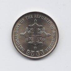 MAKEDONIJA 1 DENAR 2000 KM # 27 UNC Krikščionybės jubiliejus