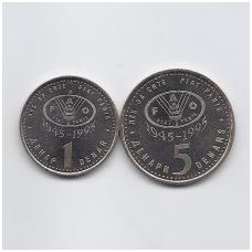 MAKEDONIJA 1995 2 MONETŲ FAO RINKINYS