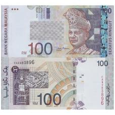 MALAIZIJA 100 RINGGIT 2001 ND P # 44d UNC