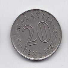MALAIZIJA 20 SEN 1982 KM # 4 VF
