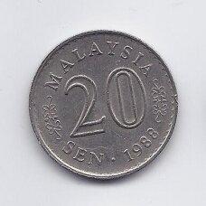 MALAIZIJA 20 SEN 1988 KM # 4 VF