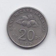 MALAIZIJA 20 SEN 1997 KM # 52 VF