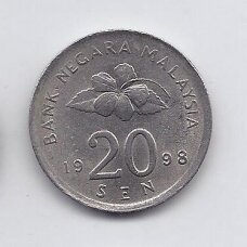 MALAIZIJA 20 SEN 1998 KM # 52 VF