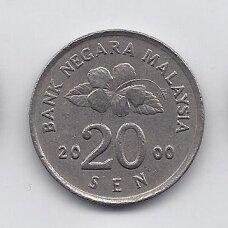 MALAIZIJA 20 SEN 2000 KM # 52 VF