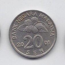 MALAIZIJA 20 SEN 2001 KM # 52 VF