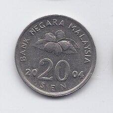 MALAIZIJA 20 SEN 2004 KM # 52 VF