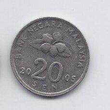 MALAIZIJA 20 SEN 2005 KM # 52 VF