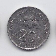 MALAIZIJA 20 SEN 2006 KM # 52 XF