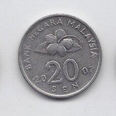 MALAIZIJA 20 SEN 2007 KM # 52 XF