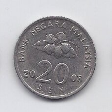 MALAIZIJA 20 SEN 2008 KM # 52 VF